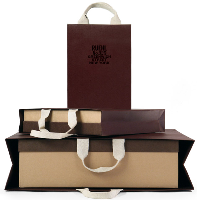 Ruehl No 925 Packaging System Ping Bag Box 2005 Creative Direction Art Graphic Design